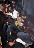Lindsay Lohan side-boob at Busta Rhymes concert in Paris x20 HQ