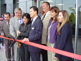 MICHELLE KWAN Cuts the Tape to Open Her New Ice Rink in California, 1 Pic