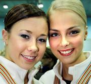 LAURA LEPISTO & KIIRA KORPI (Finnish Figure Skaters) - Nice Headshot, Wearing Medals