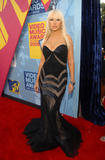 Singer Christina Aguilera arrives at the 2008 MTV Video Music Awards at Paramount Pictures Studios on September 7, 2008 in Los Angeles, California
